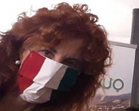Mascherina AQUILA bandiera