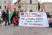 L'AQUILA, MANIFESTAZIONE A SOSTEGNO DELLA PALESTINA IN PIAZZA DUOMO